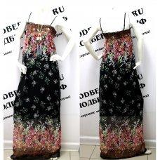 Длинное черное платье-трансформер (платье-юбка)