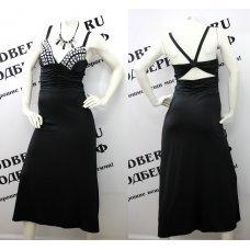 """Восхитительное черное длинное платье """"Queen"""""""
