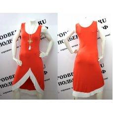 """Стильное оранжевое платье """"Asymmetry"""""""