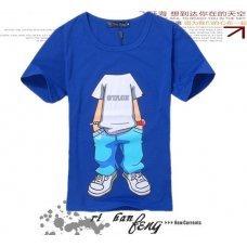 "Синяя футболка с принтом ""Individual"" (унисекс)"