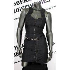 Джинсовое платье + ремень