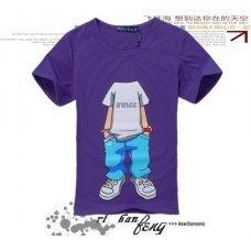 """Фиолетовая футболка с принтом """"Individual"""" (унисекс)"""