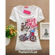 "Футболка ""Ride on a bike"""