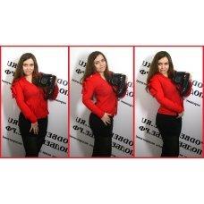 Красная рубашка с бантиком