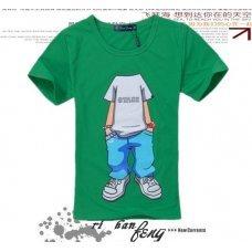 "Зеленая футболка с принтом ""Individual"" (унисекс)"