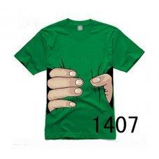 """Зеленая футболка с принтом """"Рука"""" (унисекс)"""