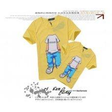"Желтая футболка с принтом ""Individual"" (унисекс)"