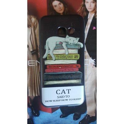 """Силиконовая накладка """"Cat"""" для Samsung Galaxy A3 (2017)"""