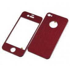 Алюминиевая наклейка для Apple iPhone 4 / 4S (2 стороны)