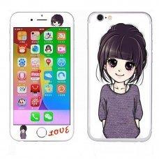 """Виниловая наклейка """"Girl"""" для Apple iPhone 6 (2 стороны)"""