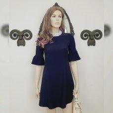 Темно-синее школьное платье